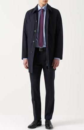 Шерстяное пальто на молнии прямого силуэта   Фото №2