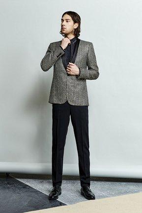 Хлопковая вечерняя сорочка с шелковой отделкой Dolce & Gabbana черная | Фото №11