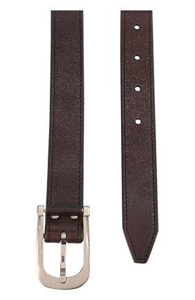 Мужской кожаный ремень с металлической пряжкой TOM FORD темно-коричневого цвета, арт. TB198Q/C37 | Фото 2