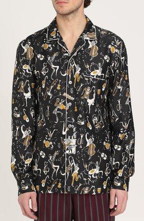 Шелковая сорочка с принтом | Фото №3