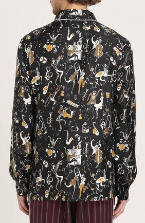 Шелковая сорочка с принтом | Фото №4