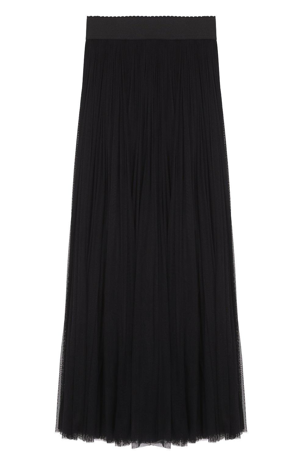 Шелковая пышная юбка-макси | Фото №1