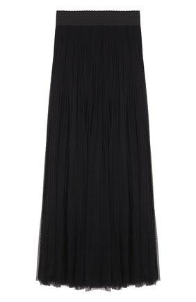 Шелковая пышная юбка-макси Dolce & Gabbana черная | Фото №1