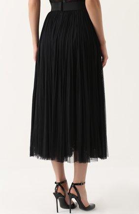 Шелковая пышная юбка-макси Dolce & Gabbana черная | Фото №4
