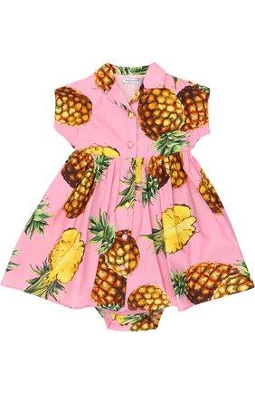 Комплект из платья и трусов Dolce & Gabbana розового цвета | Фото №1