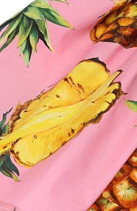 Комплект из платья и трусов Dolce & Gabbana розового цвета | Фото №6