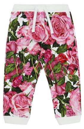 Спортивные брюки с манжетами и принтом   Фото №1