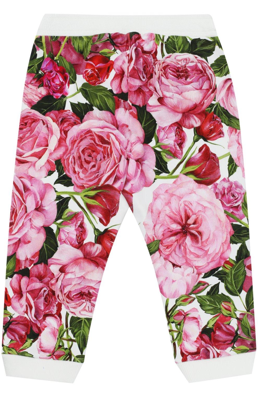 Спортивные брюки с манжетами и принтом   Фото №2