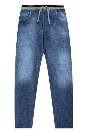 Детские джинсы прямого кроя с эластичным поясом Dolce & Gabbana голубого цвета | Фото №1