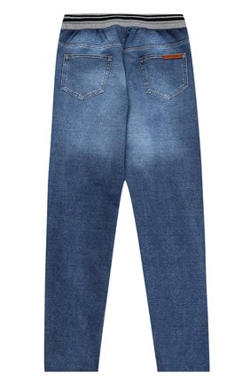 Детские джинсы прямого кроя с эластичным поясом Dolce & Gabbana голубого цвета | Фото №2