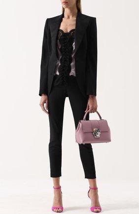 Приталенный жакет с широкими шелковыми лацканами Dolce & Gabbana черный | Фото №2