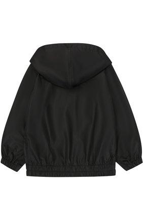 Куртка на молнии с капюшоном Dolce & Gabbana черного цвета | Фото №2