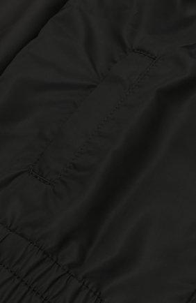 Куртка на молнии с капюшоном Dolce & Gabbana черного цвета | Фото №3