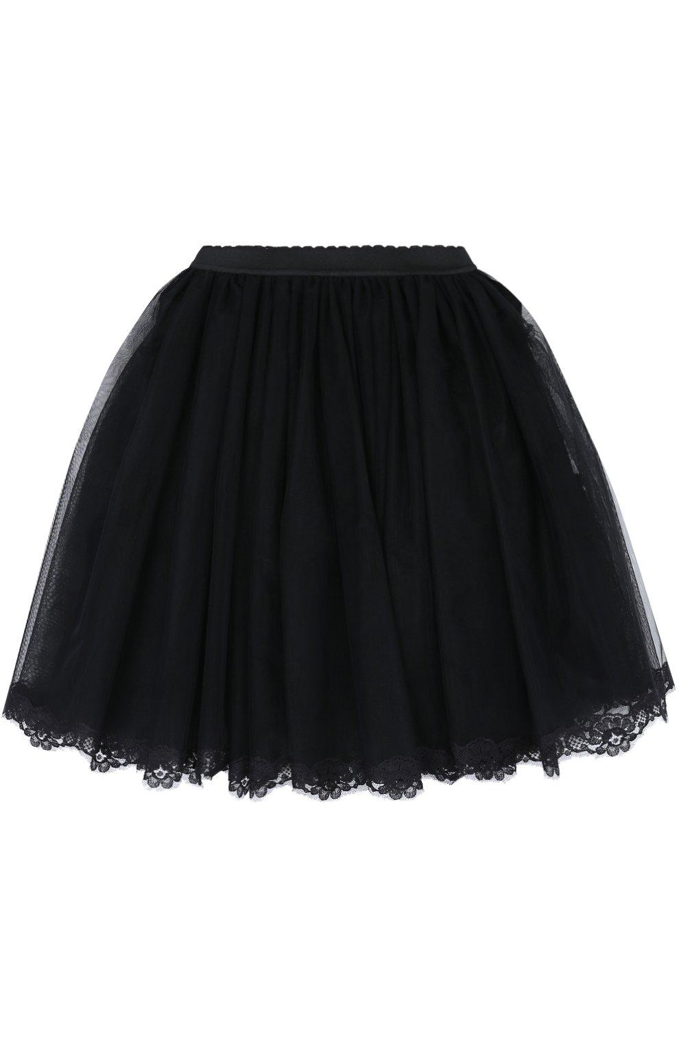 Многоярусная пышная юбка с кружевной отделкой   Фото №1