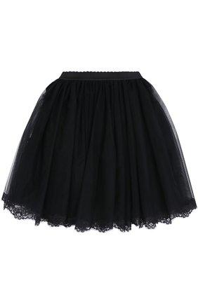 Многоярусная пышная юбка с кружевной отделкой   Фото №2