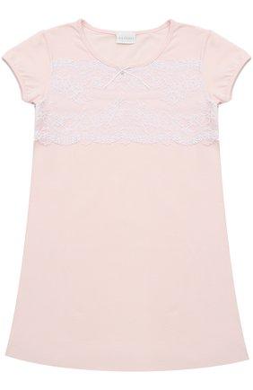Сорочка из хлопка с кружевной отделкой | Фото №1