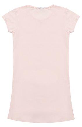Сорочка из хлопка с кружевной отделкой | Фото №2