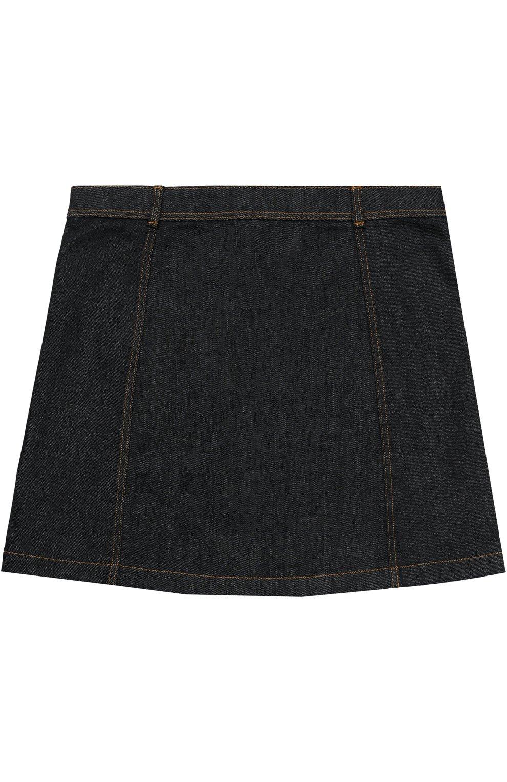 Джинсовая юбка с накладными карманами | Фото №2
