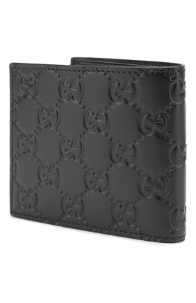 Мужской кожаное портмоне signature GUCCI черного цвета, арт. 365466/CWC1R | Фото 2