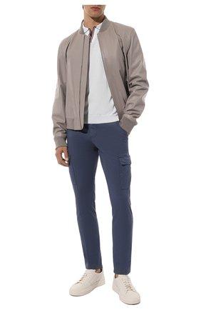Мужское хлопковое поло GRAN SASSO белого цвета, арт. 57132/20688 | Фото 2