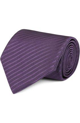 Шелковый галстук в полоску   Фото №1