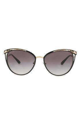 Женские солнцезащитные очки BVLGARI черного цвета, арт. 6083-20188G | Фото 3