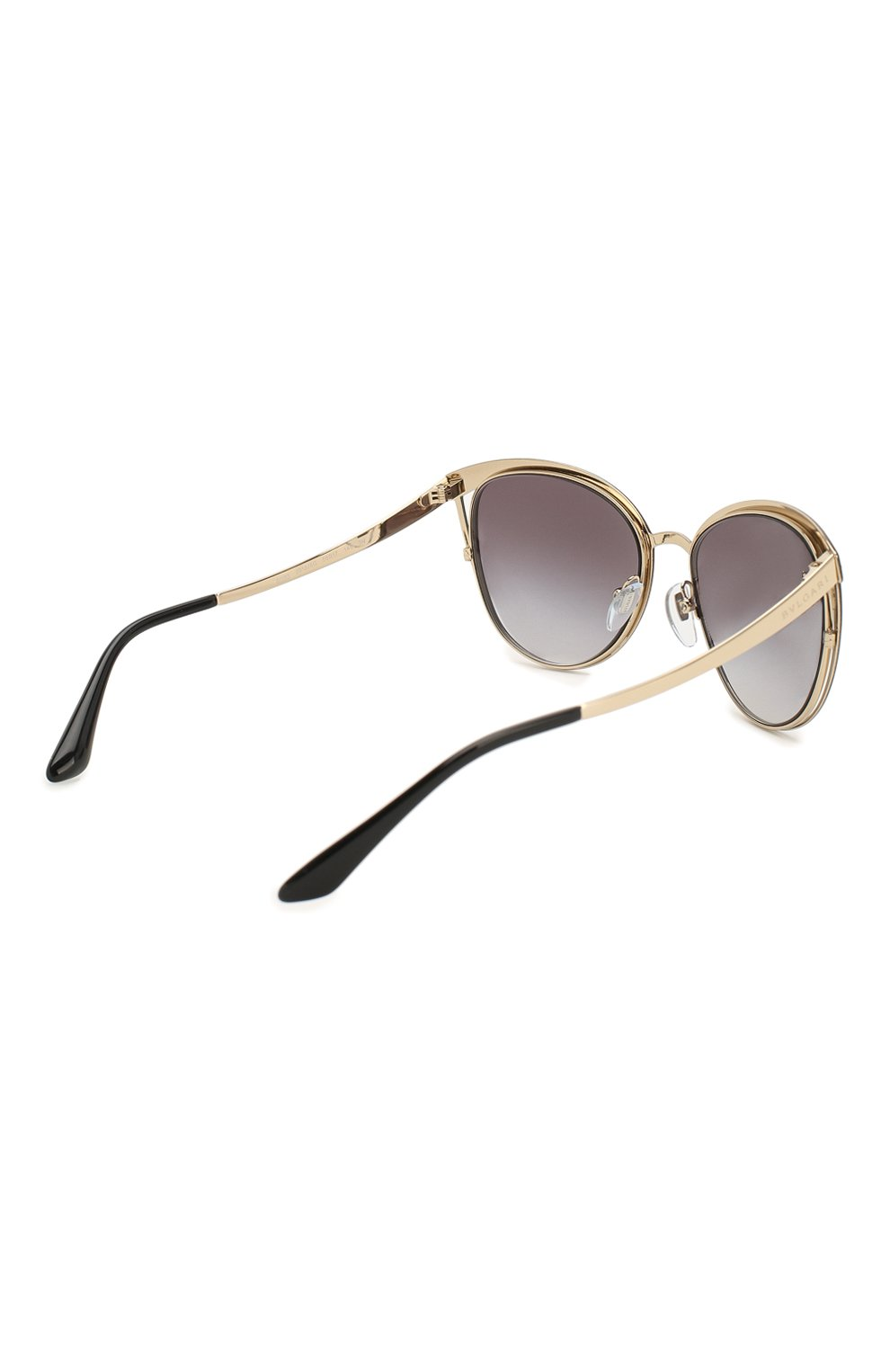 Женские солнцезащитные очки BVLGARI черного цвета, арт. 6083-20188G | Фото 4