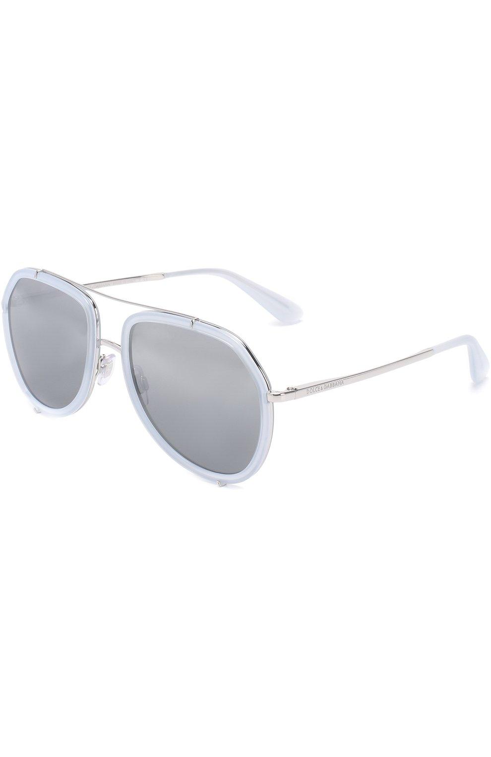 Женские солнцезащитные очки DOLCE & GABBANA светло-серого цвета, арт. 2161-05/88 | Фото 1