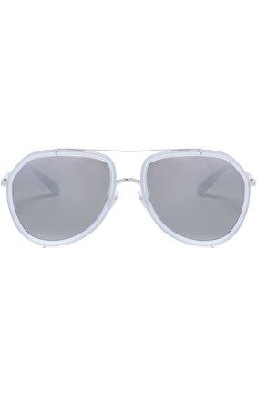 Женские солнцезащитные очки DOLCE & GABBANA светло-серого цвета, арт. 2161-05/88 | Фото 3