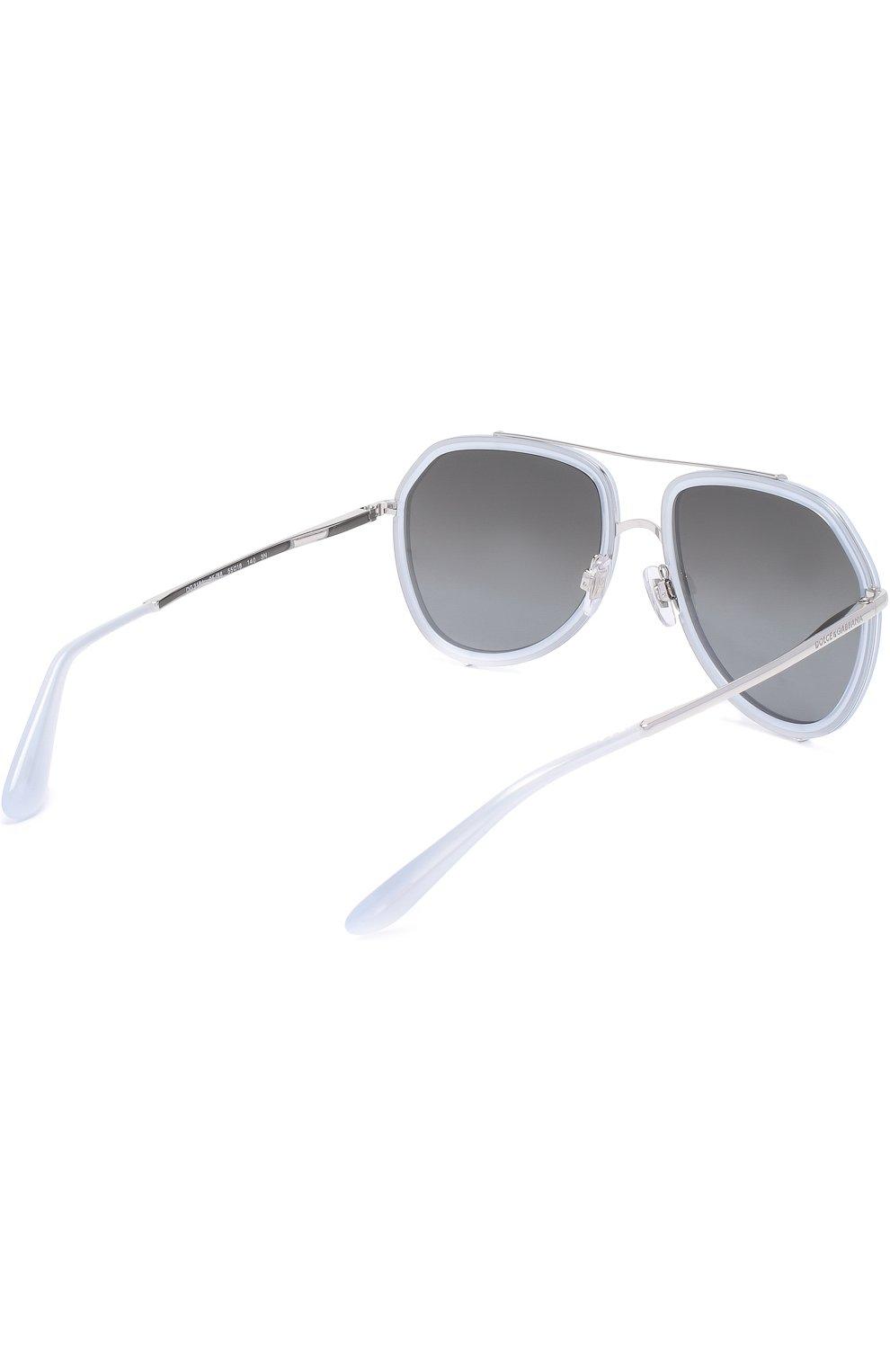 Женские солнцезащитные очки DOLCE & GABBANA светло-серого цвета, арт. 2161-05/88 | Фото 4