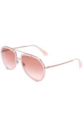 Солнцезащитные очки Dolce & Gabbana светло-розовые | Фото №1