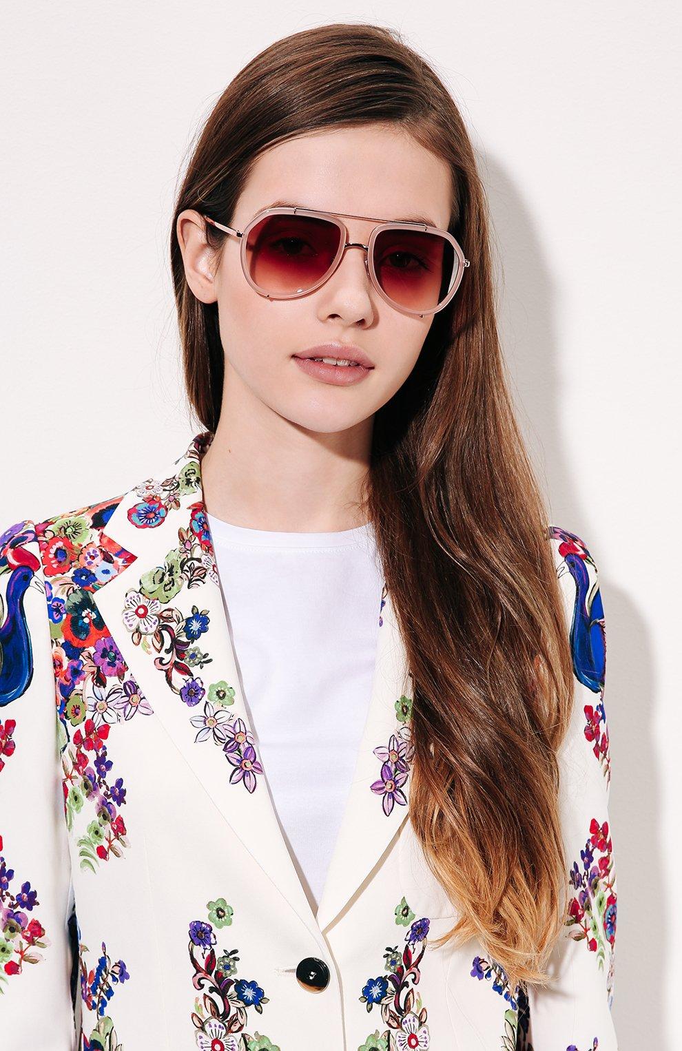 Солнцезащитные очки Dolce & Gabbana светло-розовые | Фото №2