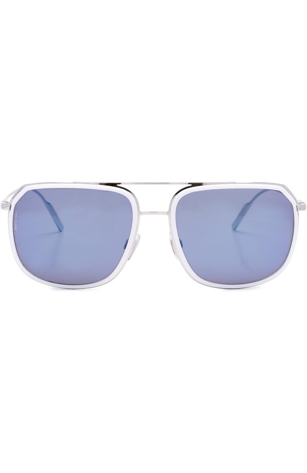 Солнцезащитные очки Dolce & Gabbana белые | Фото №2