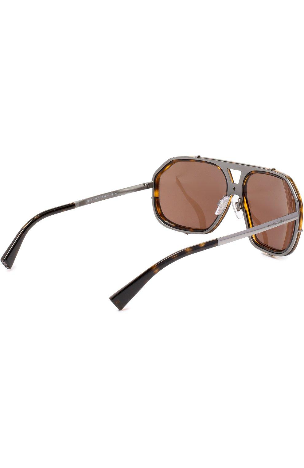 Солнцезащитные очки Dolce & Gabbana коричневые | Фото №3