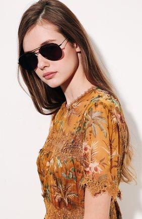 Женские солнцезащитные очки ILLESTEVA коричневого цвета, арт. LINATE BLACK/M0CHA   Фото 2 (Тип очков: С/з; Ограничения доставки: fragile)