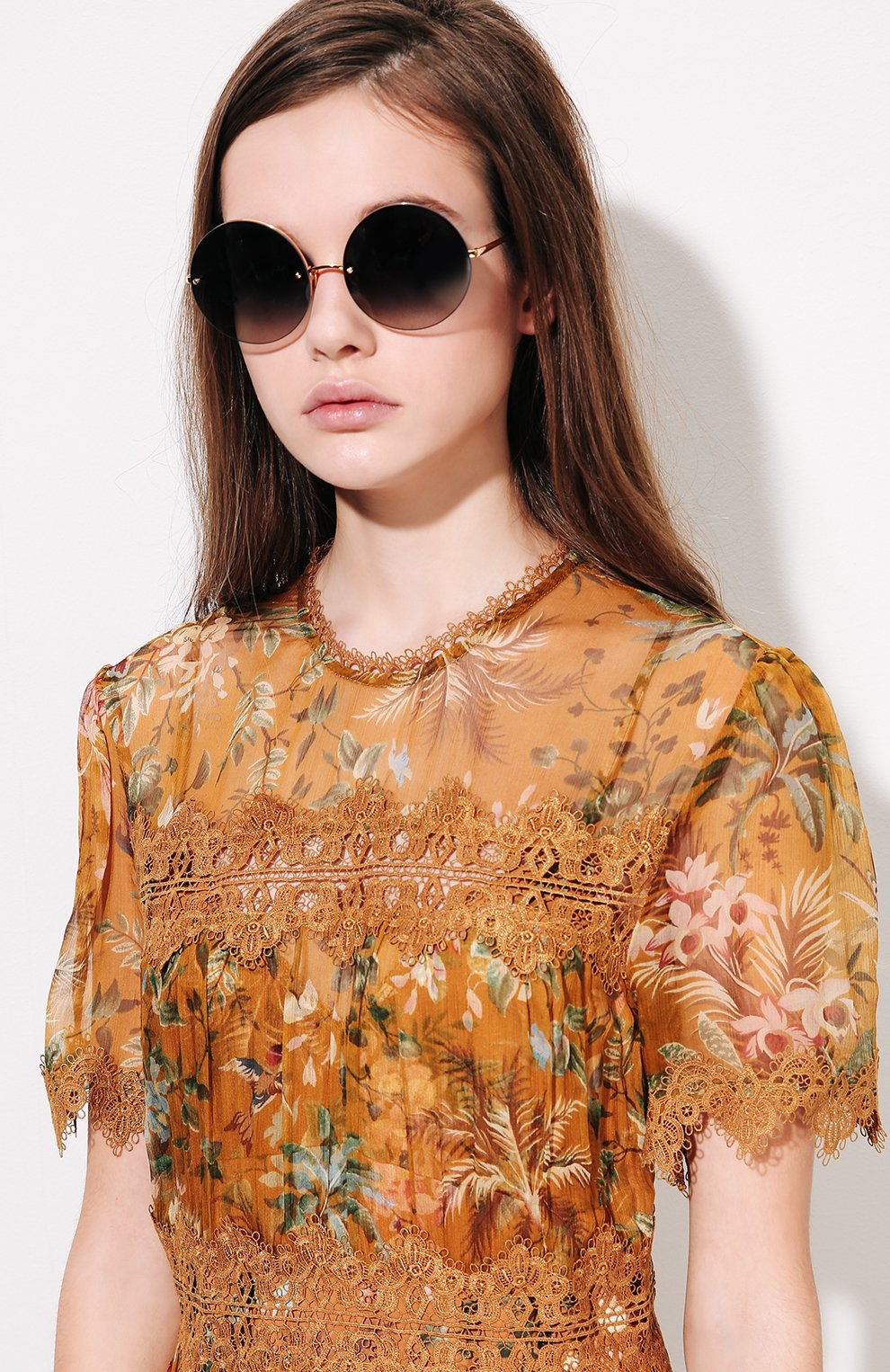 Женские солнцезащитные очки LINDA FARROW темно-синего цвета, арт. LFL565C4 SUN | Фото 2
