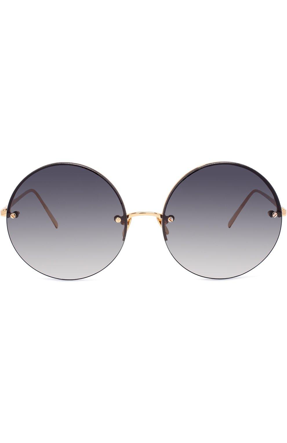 Женские солнцезащитные очки LINDA FARROW темно-синего цвета, арт. LFL565C4 SUN | Фото 3
