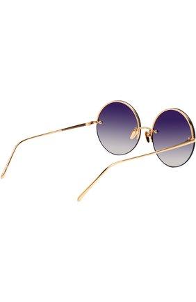 Женские солнцезащитные очки LINDA FARROW темно-синего цвета, арт. LFL565C4 SUN | Фото 4
