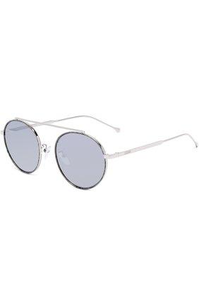 Солнцезащитные очки Loewe серебряные | Фото №1