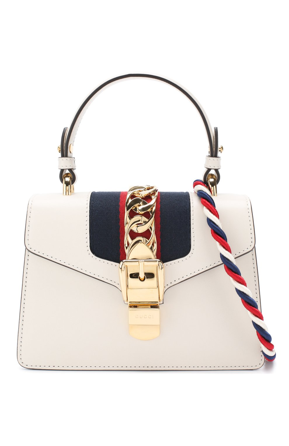 8fcc7b5fb799 Женская сумка sylvie mini GUCCI белая цвета — купить за 152200 руб ...