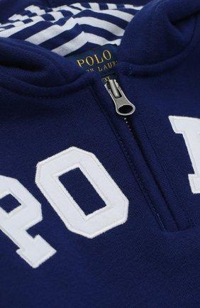 Толстовка из хлопка с логотипом бренда  | Фото №3