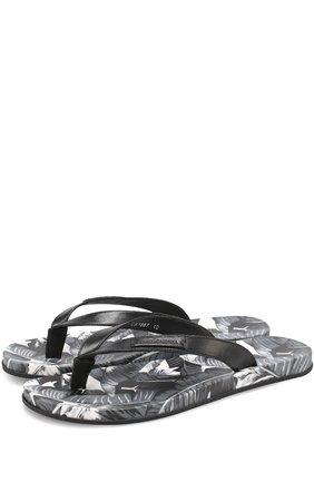 Резиновые шлепанцы с принтом Polka dot Dolce & Gabbana серые   Фото №1