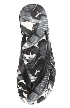 Резиновые шлепанцы с принтом Polka dot Dolce & Gabbana серые   Фото №4