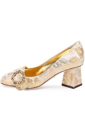 Парчовые туфли Jackie на фигурном каблуке | Фото №2