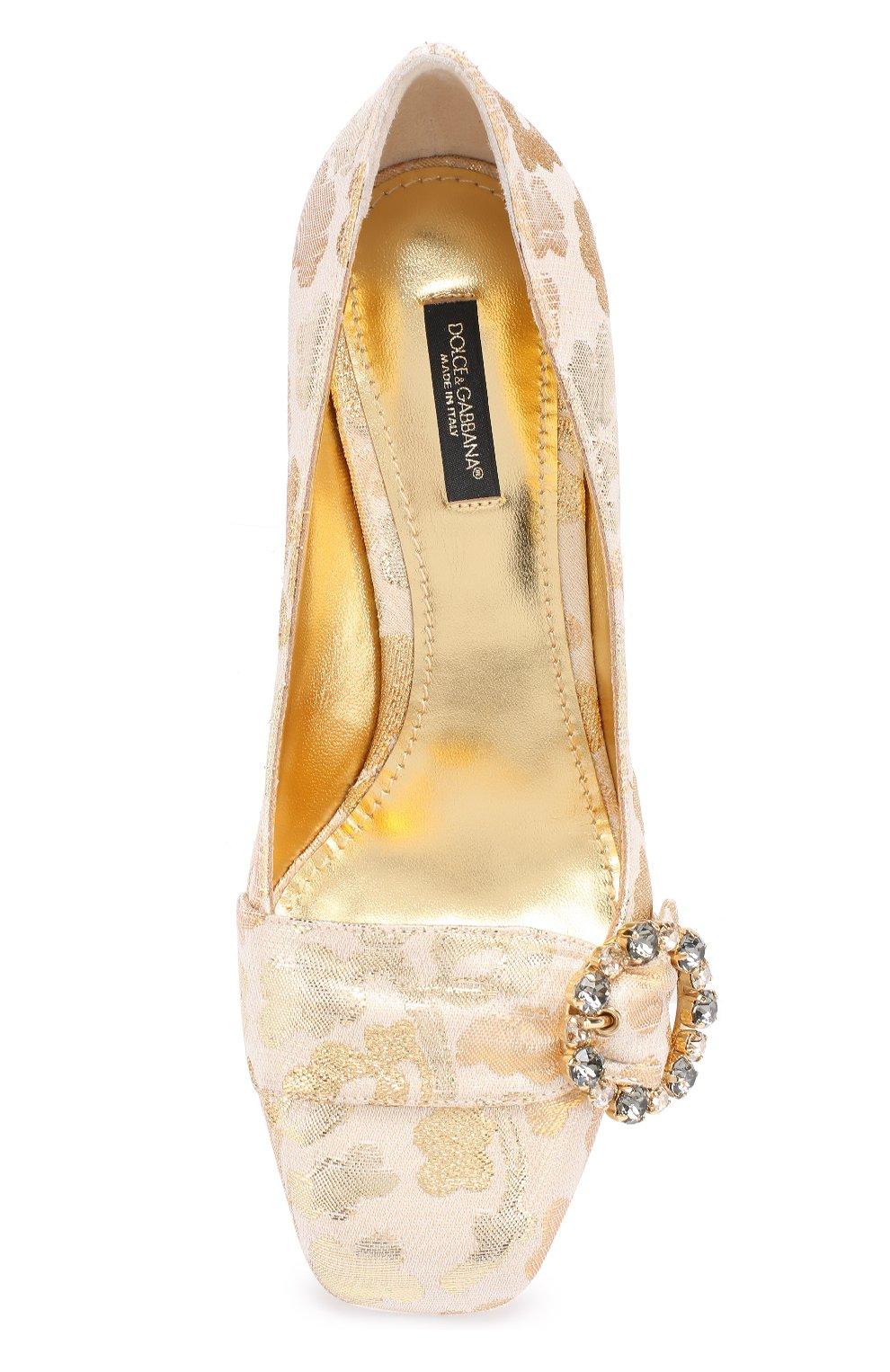 Парчовые туфли Jackie на фигурном каблуке | Фото №4