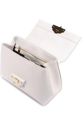 Сумка Lucia small с декорированной ручкой Dolce & Gabbana белая цвета   Фото №3