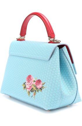 Сумка Lucia с принтом Dolce & Gabbana голубая цвета | Фото №3