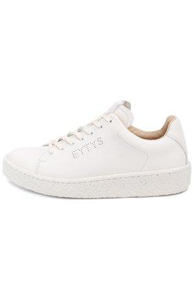 Кожаные кеды Ace на шнуровке Eytys белые   Фото №1