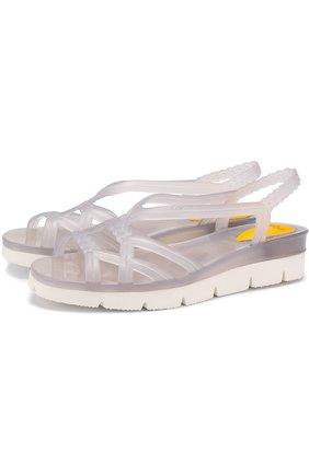 Резиновые сандалии на контрастной подошве   Фото №1