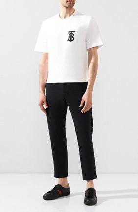 Мужские кожаные кеды ace GUCCI черного цвета, арт. 429446/A38G0 | Фото 2